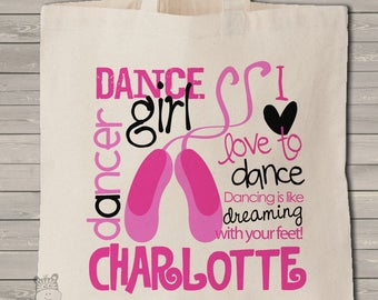 Personalized Dance bag perfect for the dancer and all of his or her dancing things - ballet bag - MBAL1-001