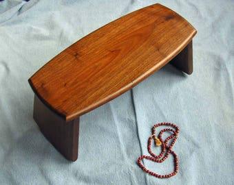 Meditation Bench / Folding Round Bottom Legs / Walnut K's Style