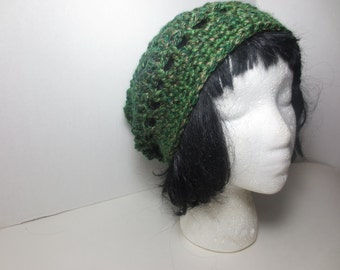 Slouch hat - Slouchy Beanie - Green Slouchy hat - Green hat