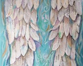 Angel Wings painting art print Customizable  8x10 inches