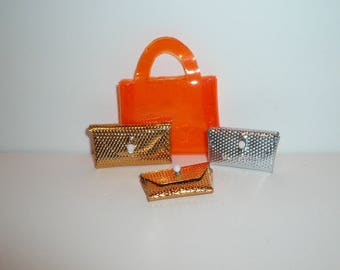 Vintage Miniature Purses Hangbag Dollhouse Collectible Set of Four Purses