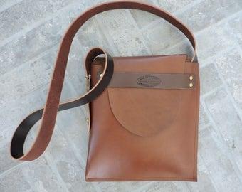 Leather Satchel/ Crossbody Bag / Handcrafted / Leather Bag / Leather Crossbody Bag / Minimalist Leather Bag