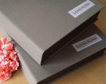 Custom Clam Shell Box · Large Drop Spine Box · Custom Photography Portfolio Box · Drop Spine Box· Artist Portfolio Box · Artist Presentation