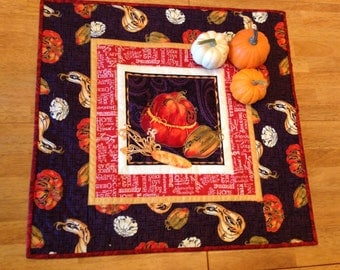 Autumn Table Topper Quilted Squash Runner