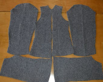 Gray felted-wool