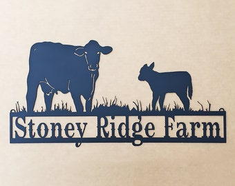 Custom Sign with Cows W2)