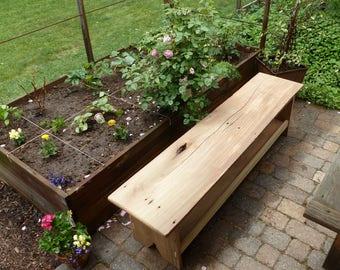 Reclaimed Wood Bench & Shelf