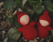 Woolly Valentine, Cashmere Red, Pocket Doll by Fig and Me.