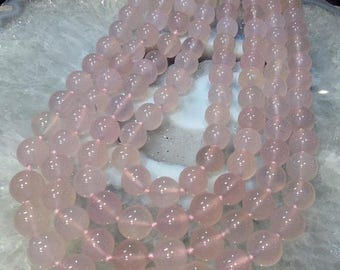 50% Mega Sale 11mm Chalcedony Round Gemstone Beads - Pink