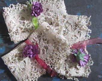 Ohh La La - Vintage French Lace - 1 Metre Length - Sewing, Craft,