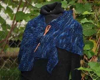 Dark Denim Wingspan Shawl