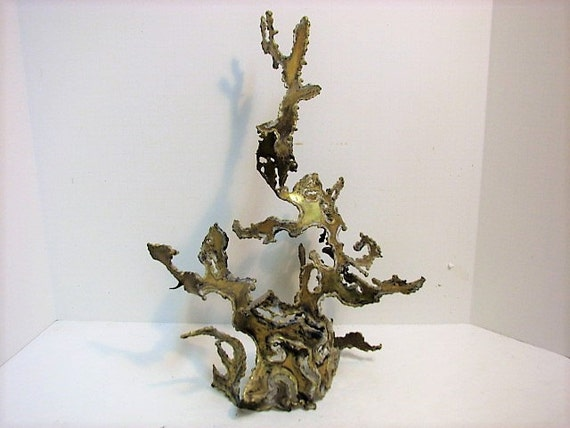 Brutalist Metal Sculpture by Mary Minton, 1963 Mid Century Abstract Metal Art