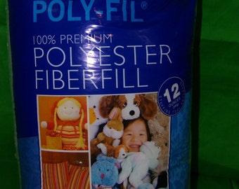Poly-Fil 100% Premium Polyester FiberFill 12 Ounces