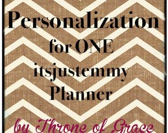 Personalization for ONE itsjustemmy Planner
