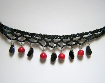 cherries and ink crochet choker