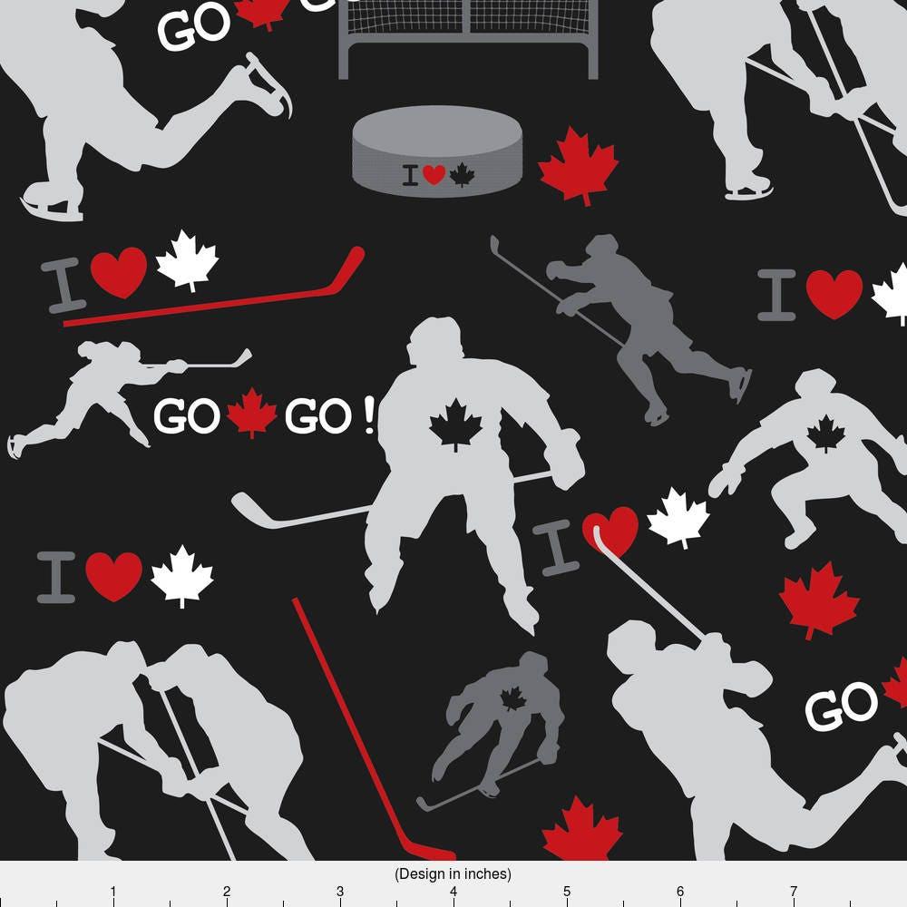 Hockey Fabric Team Canada By Iheartampersands Maple Leaf