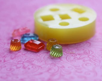 Candy Mold Decoden Kawaii Cabochon Mold Dollhouse Candy Mold Resin Polymer Clay Soap Wax PMC Mold Jewelry DIY Cabochon Molds