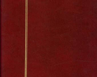 12 Page Safe Stamp Stock Album 8 Row Double Side Red Maroon Archival L59