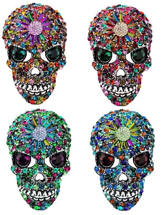 crystal sugar skulls printable art printable art Day of the dead skeleton clipart skull clip art vector digital download png clipart
