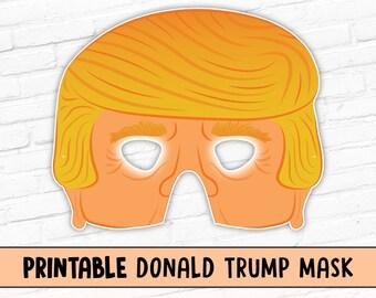 Donald Trump Printable Mask | Halloween Mask | Presidential Election 2016
