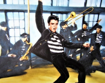ELVIS PRESLEY Jailhouse Rock Collector Plate Vintage Artwork Fun  Limited Edition 1989 Delphi Decorative Collectible Numbered