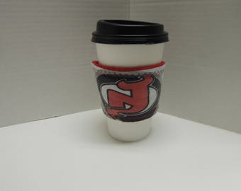 Reusable Upcycled Drink Wrap NHL New Jersey Devils