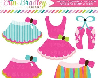 50% OFF SALE Rainbow Ballerina Tutus Clipart Commercial Use Clip Art Graphics Instant Download