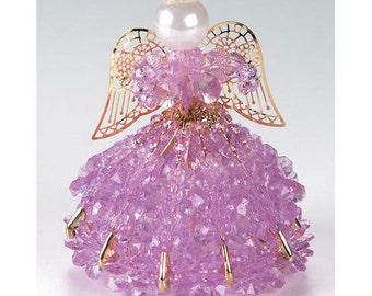 June Alexandrite Birthstone Angel Safety Pin Angel Kit Bead Kit Beaded Angel Safety Pin Kit