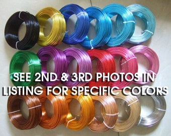 18 Gauge Anodized Aluminum Wire Beading Wire 39 Feet  - You choose the color