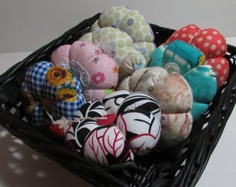 Fancy Fabrics Pin Cushion, your choice, 4-5 inch finished size, assorted colors, pin holder, pin keep, sewers gift