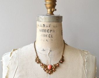 Sorbetto necklace | vintage 1930s necklace | brass and glass 30s necklace