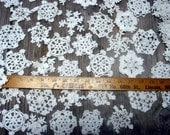 "100 Hand Crochet White Christmas Snowflakes Motifs Doilies Ornaments 3"" Cotton,Tea Party, Vintage Wedding,free US shipping"
