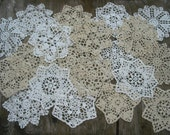 "lot of 20 Hand Crochet 5"" RD Doily for Cottage/Victorian/Shabby/Boho/French Style,Tea Party, Vintage Wedding, Free USA shipping"