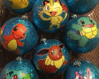 Pokemon inspired Christmas Ornaments