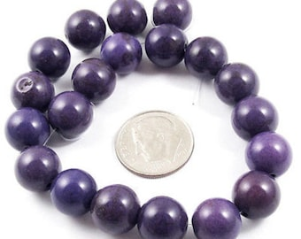 10mm Round Beads-Purple Candy Turquoise (20)