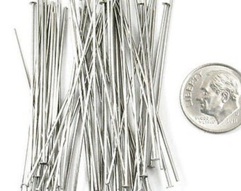 "TierraCast 21 Gauge NICKEL Head Pins 2"" (50)"