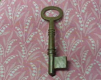Vintage Brass Skeleton Key Uncut Bit 2 3/4 inch length