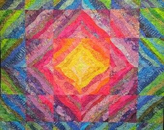 Light Squared Art Quilt