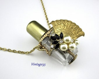 Necklace Perfume Bottle 1950s