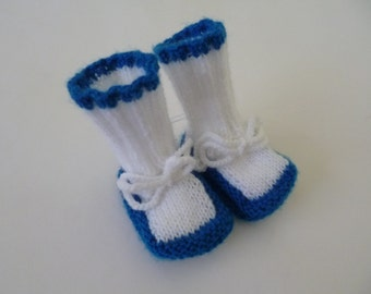Knitted Baby Booties, Newborn Boy Booties, Booties Newborn, Booties Baby, Coming Home Booties, Baby Shower Gift, Everyday Wear.