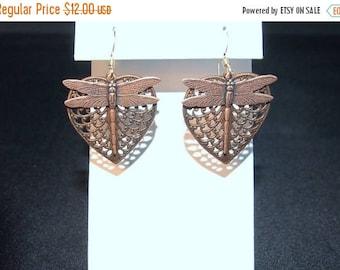 On sale Fun Copper Dragonfly Earrings FREE SHIPe