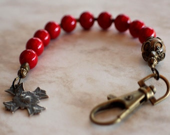 Red Riverstone, Picture Jasper and Bronze Catholic One Decade Rosary
