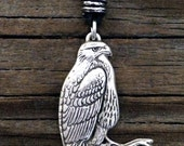 Red Tail Hawk Pewter Pendant | Hawk Jewelry | Red Tail Hawk Necklace | Handcrafted Jewelry | by Treasure Cast Pewter