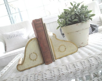 Vintage Bookends * Florentine * Shabby Cottage * Made in Italy