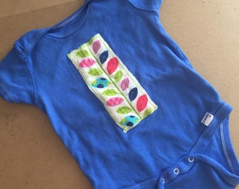 Upcycled baby onesie - size 18 mos.