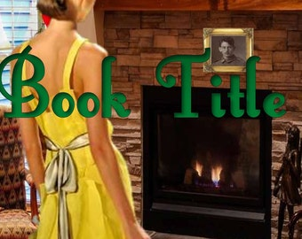 Premade Custom Kindle Book Cover Art Romance, HIstorical, Fireplace, Yellow Dress, Christmas,