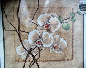 Oriental Orchids Counted Cross Stitch Kit by Dimensions