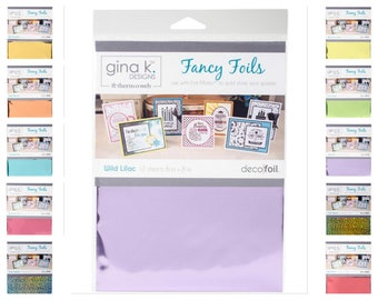 Thermoweb Gina K Designs Fancy Foils Pick from 10 Colors