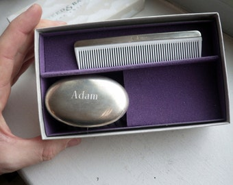 Vintage Set of Baby Brush/Comb - Sterling - ADAM - from Reed Barton.