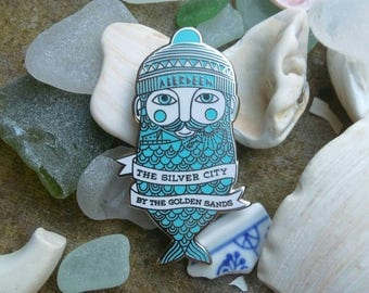 Silver Hipster pin